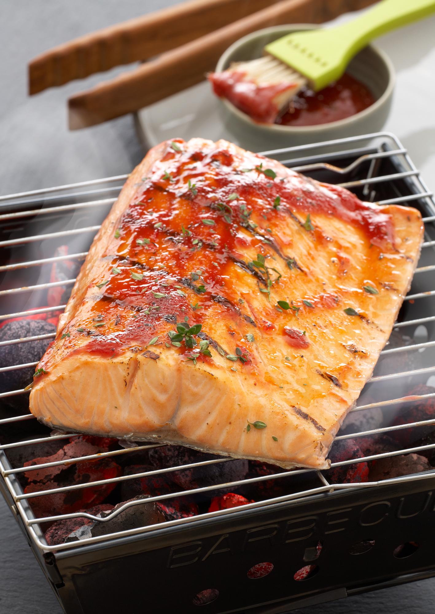 Barbecue Lachs<br>(Norwegischer Fisch)