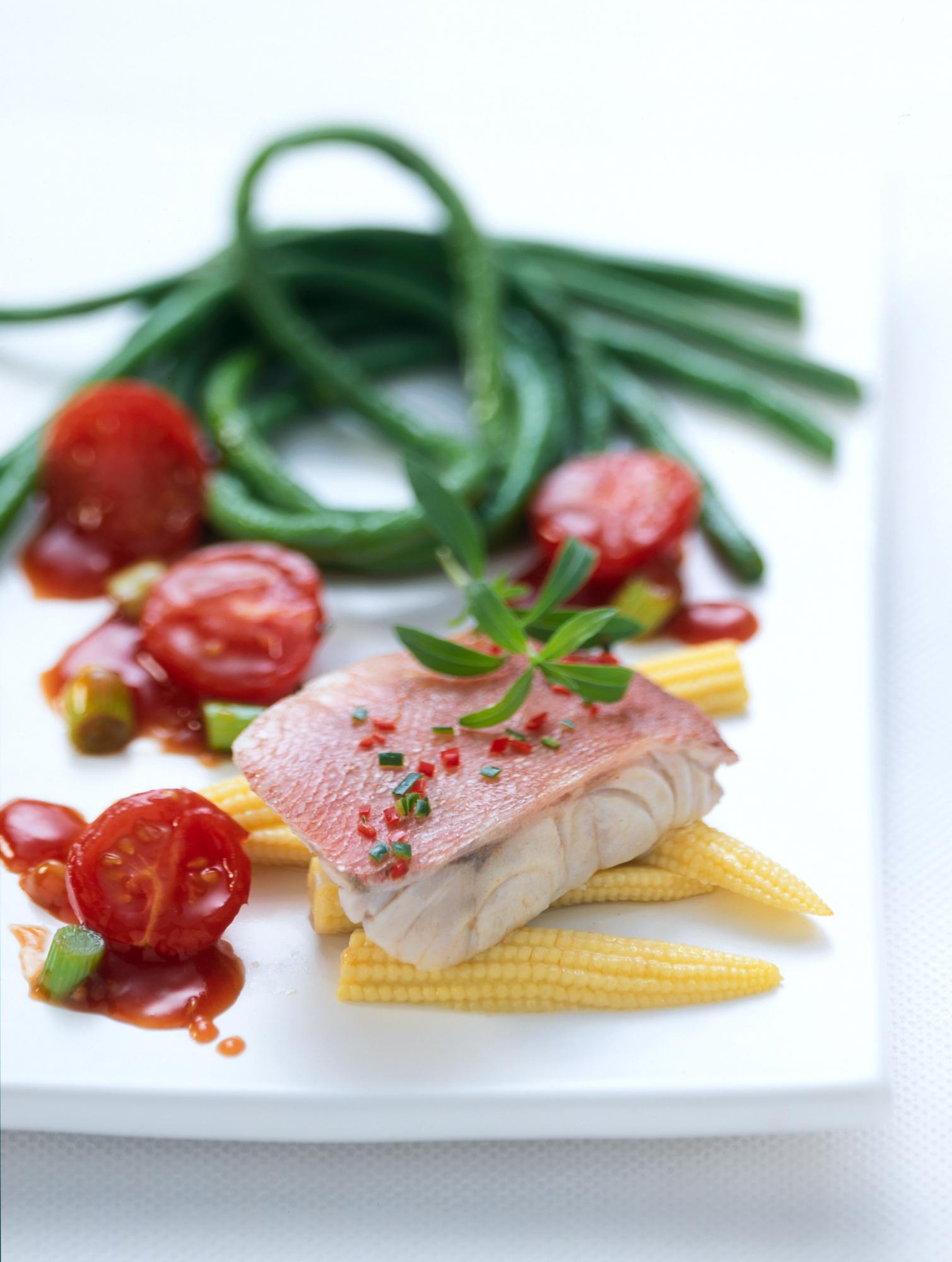 Fisch mit Bohnen<br>(NORDSEE)