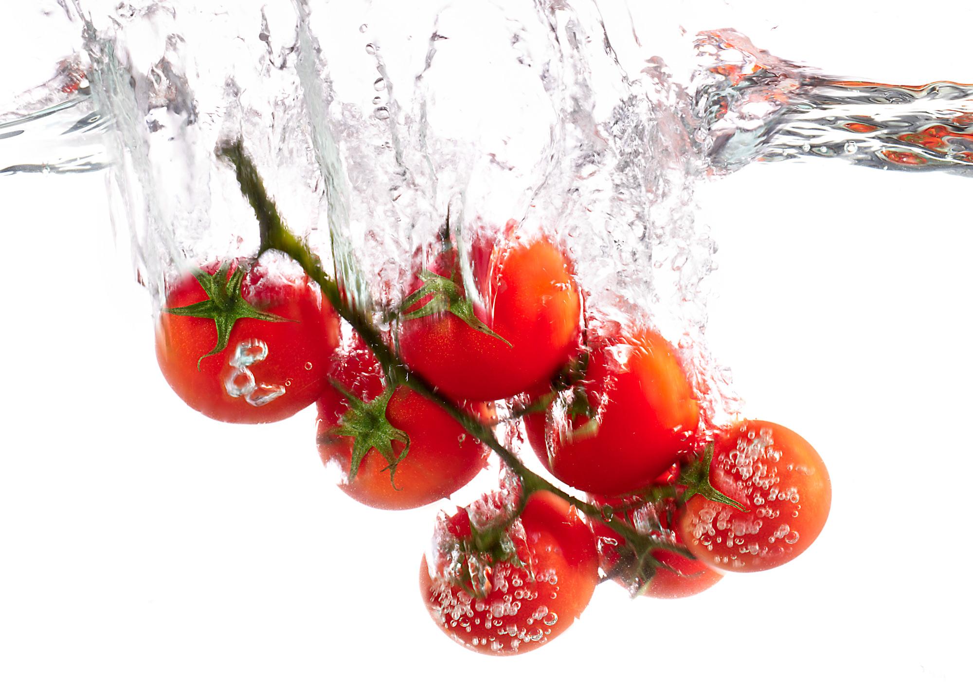 Tomaten-Splash